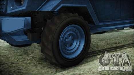 GTA 5 HVY Insurgent Van IVF для GTA San Andreas вид сзади слева