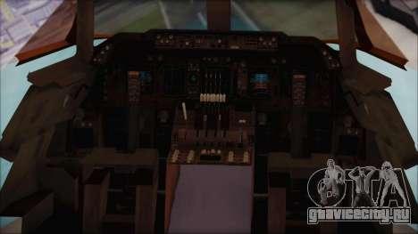 Boeing 747-100 Blue для GTA San Andreas вид сзади