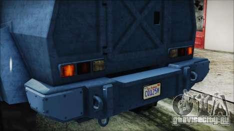 GTA 5 HVY Insurgent Van IVF для GTA San Andreas вид сбоку