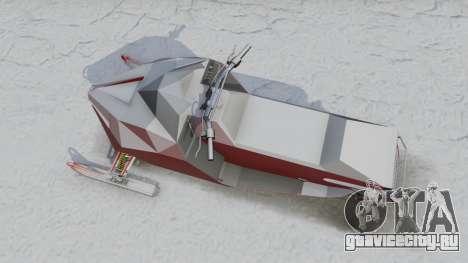 Снегоход для GTA 5 вид сзади