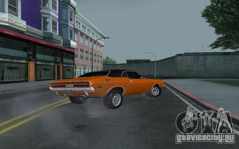 Dodge Challenger Tunable для GTA San Andreas вид сверху