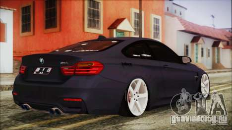 BMW M4 Stance 2014 для GTA San Andreas вид слева
