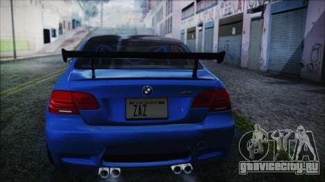 BMW M3 GTS 2011 HQLM для GTA San Andreas вид слева