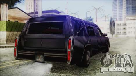 The Romeros Hearse для GTA San Andreas вид сзади слева