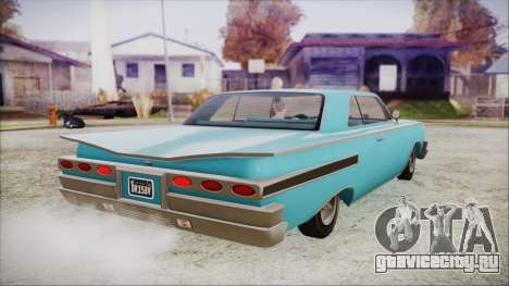 GTA 5 Declasse Clean Voodoo Bobble Version IVF для GTA San Andreas вид слева