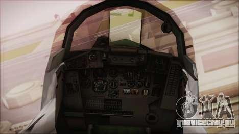 MIG-29 Fulcrum Ukrainian Falcons для GTA San Andreas вид справа