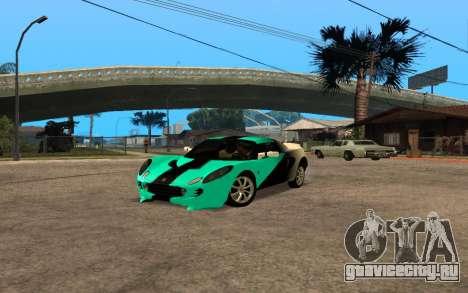 Lotus Elise 111s Tunable для GTA San Andreas вид сзади слева