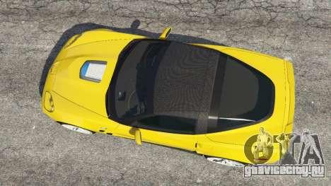 Chevrolet Corvette ZR1 для GTA 5 вид сзади