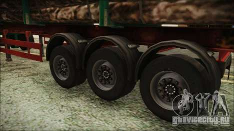 Iveco EuroTech Forest Trailer для GTA San Andreas вид сзади слева