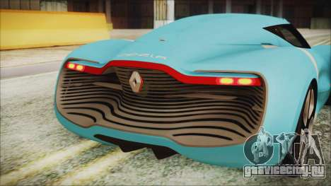 Renault Dezir Concept 2010 v1.0 для GTA San Andreas вид изнутри