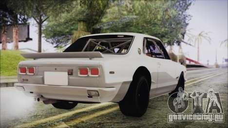 Nissan Skyline GT-R Hakosuka для GTA San Andreas вид слева