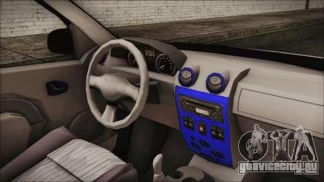 Dacia Logan для GTA San Andreas вид справа