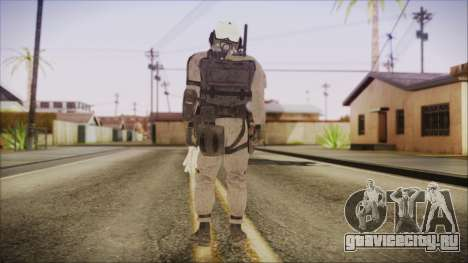 XOF Soldier (Metal Gear Solid V Ground Zeroes) для GTA San Andreas третий скриншот