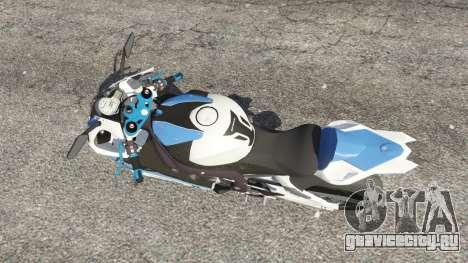 BMW HP4 для GTA 5 вид сзади