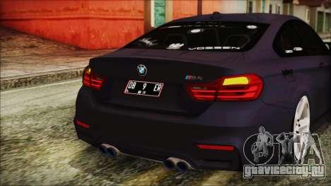 BMW M4 Stance 2014 для GTA San Andreas вид снизу