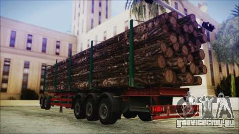 Iveco EuroTech Forest Trailer для GTA San Andreas вид слева