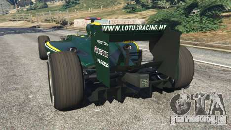 Lotus T127 для GTA 5 вид сзади слева