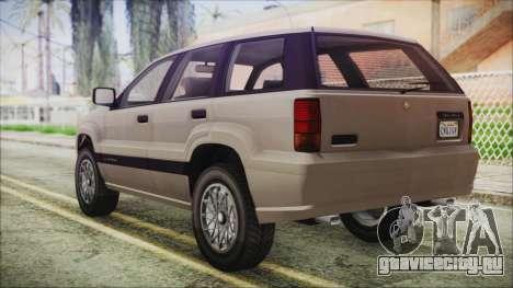 GTA 5 Canis Seminole IVF для GTA San Andreas вид слева