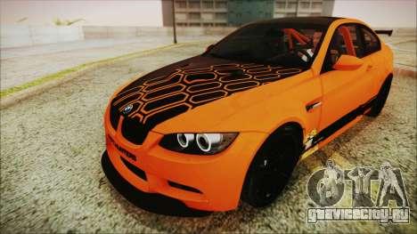 BMW M3 GTS 2011 HQLM для GTA San Andreas вид изнутри