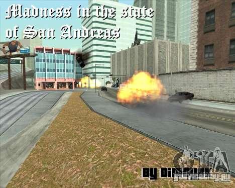 Безумие в штате San Andreas v1.0 для GTA San Andreas шестой скриншот
