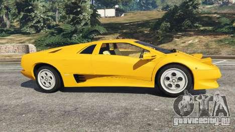Lamborghini Diablo Viscous Traction 1994 для GTA 5 вид слева