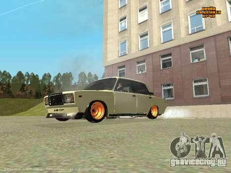 Ваз 2107 Корч для GTA San Andreas вид слева