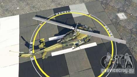 Bell UH-1D Huey Bundeswehr для GTA 5 четвертый скриншот
