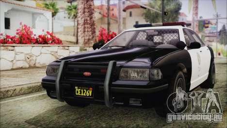 GTA 5 Vapid Stranier II Police Cruiser IVF для GTA San Andreas