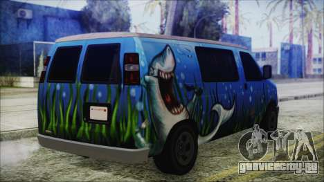 GTA 5 Bravado Paradise Shark Artwork для GTA San Andreas вид слева