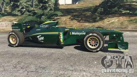 Lotus T127 для GTA 5 вид слева