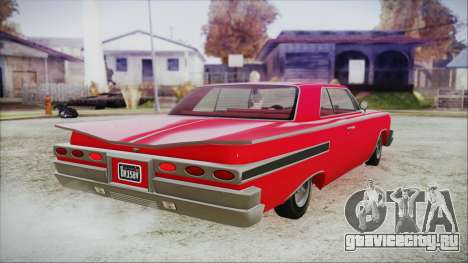 GTA 5 Declasse Clean Voodoo Bobble Version для GTA San Andreas вид слева