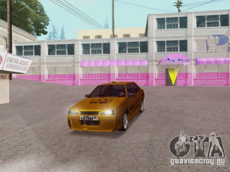 VAZ 21099 Tuning Russian Taxi для GTA San Andreas вид справа
