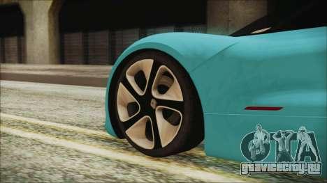 Renault Dezir Concept 2010 v1.0 для GTA San Andreas вид сзади слева