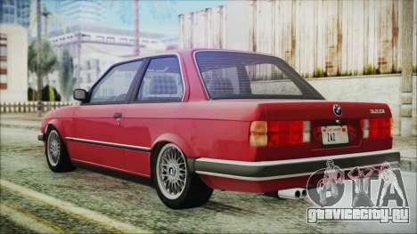 BMW 320i E21 1985 SA Plate для GTA San Andreas вид слева
