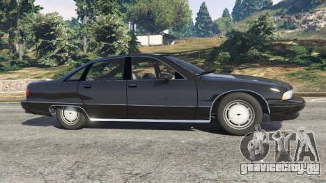 Chevrolet Caprice 1991 v1.2 для GTA 5 вид слева