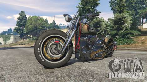 Harley-Davidson Knucklehead Bobber для GTA 5 вид справа