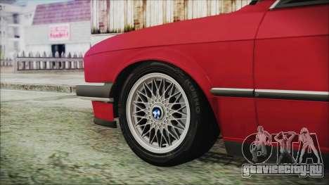 BMW 320i E21 1985 SA Plate для GTA San Andreas вид сзади слева