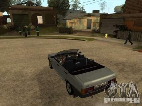 ВАЗ 21099 Кабриолет для GTA San Andreas вид сзади слева