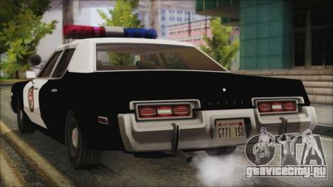 Dodge Monaco 1974 LSPD для GTA San Andreas вид слева