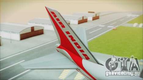 Boeing 747-237Bs Air India Kanishka для GTA San Andreas вид сзади слева