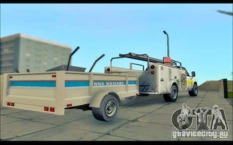 Мод из GTA V коммунальные трейлер для GTA San Andreas вид сзади слева