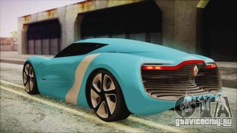 Renault Dezir Concept 2010 v1.0 для GTA San Andreas вид слева