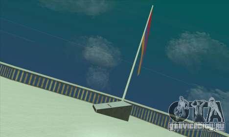 Флаг Армении на горе Chiliad для GTA San Andreas второй скриншот