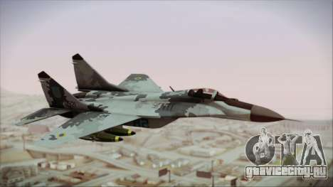 MIG-29 Fulcrum Ukrainian Falcons для GTA San Andreas