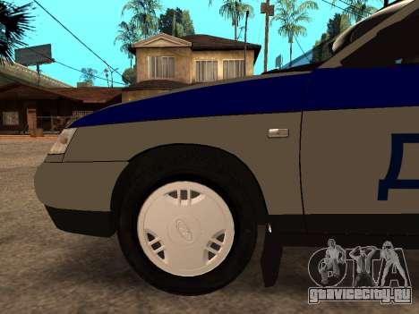 ВАЗ 2110 ДПС для GTA San Andreas вид сверху