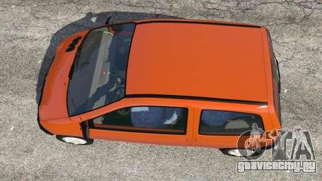 Renault Twingo I для GTA 5 вид сзади