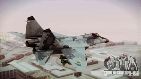 MIG-29 Fulcrum Ukrainian Falcons для GTA San Andreas вид слева