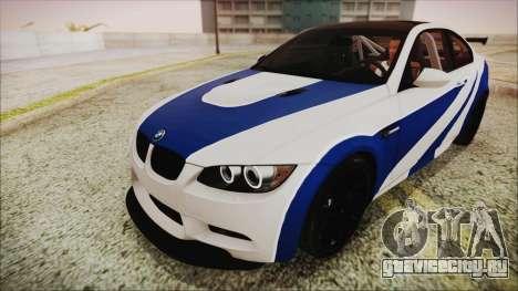 BMW M3 GTS 2011 HQLM для GTA San Andreas вид сзади