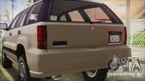 GTA 5 Canis Seminole IVF для GTA San Andreas вид изнутри