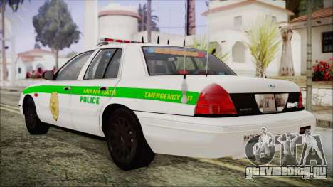 Ford Crown Victoria Miami Dade для GTA San Andreas вид слева
